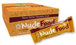 NudeFood peanut butter chocolate chunk bar