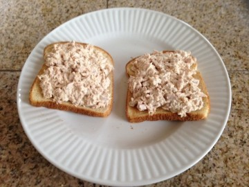 Toast with tuna